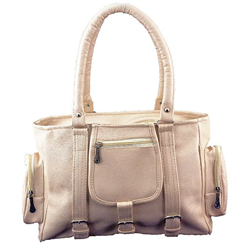 Angel & Rayon Yumiko Fancy Stylish Handbag For Women, Ladies and Girls (Beige)