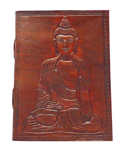 Zap Impex  Leder Buddha geformt, dunkelbraun Tagebuch Skizze Notebook, Gästebuch Persönliche...