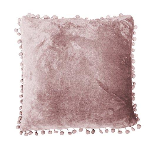 57b393caa1 RF My Home - Cuscino morbido con pompon, 45 x 45 cm, Microfibra,