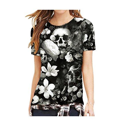 7faeb1ad3e Styledresser Vendita Calda T-Shirt Uomo,Maglietta da Donna, Coppie Uomo  Donne Teschio