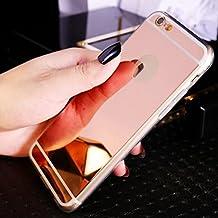 Funda iPhone 6/6s,Dosige iPhone 6/6s Carcasa con,Espejo Fundas Para iPhone 6/6s Oro rosa