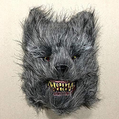 hahuha Toy Halloween Cosplay beängstigend Wolf Maske Kostüm für Erwachsene Party Dekoration (Beängstigend Kostüm Babys)