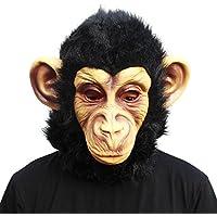 CreepyParty Máscara de Cabeza Animal de Látex de Fiesta de TrajeLujo de Halloween de Novedad Gorila