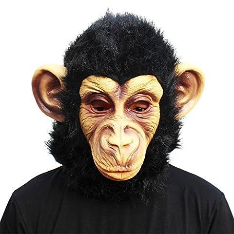 CreepyParty Deluxe Neuheit-Halloween-Kostüm-Party-Latex-Tierkopf-Schablone Masken Gorilla (Deluxe Gorilla-kostüm)