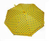 Multi-Coloured Umbrella with Attractive Design for Kids Below 5 Years - Yellow
