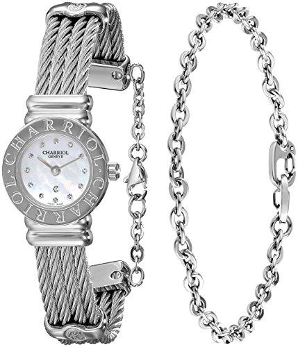 charriol-de-la-mujer-de-st-tropez-diamond-dial-acero-inoxidable-mini-reloj-st20cs-520-ro004