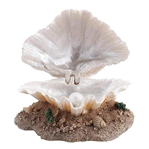 Bicaquu Aquarium Dekoration Korallen Belüftungs Aktion Ornament Fisch Muschel Perle Luft Stein Aquarium Glas Muschel Bubbler Dekor