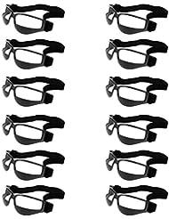 Sharplace 12pcs Set Basketball Dribbeln Trainingsbrille, Anti- Nach Unten zu Schauen Trainingshilfe