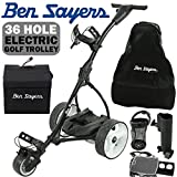 'NEW 2017' BEN SAYERS BLACK ELECTRIC GOLF TROLLEY...
