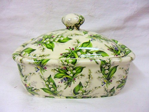 Butterdose in Vintage Lilly of the Valley Design - Chintz Butter