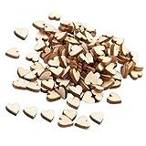 Sharplace Blank Herz Holz Scheiben natürliche Naturholzscheiben DIY Handwerk Verzierungen - Blank, 200pcs 10mm