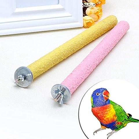 Dairyshop pour animal domestique Oiseau Bite Chew Jouets Paw meulage support perches Cage Perroquet perruche 2x 25cm