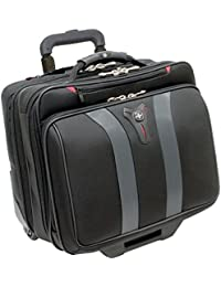 "Wenger 600659 GRANADA 17"" Wheeled Laptop Case , Padded laptop compartment with overnight compartment in Black / Grey {24 Litres}"
