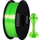 GEEETECH PLA filament 1.75mm Silk Verde, 3d filament PLA Per Stampante 3D 1kg spool