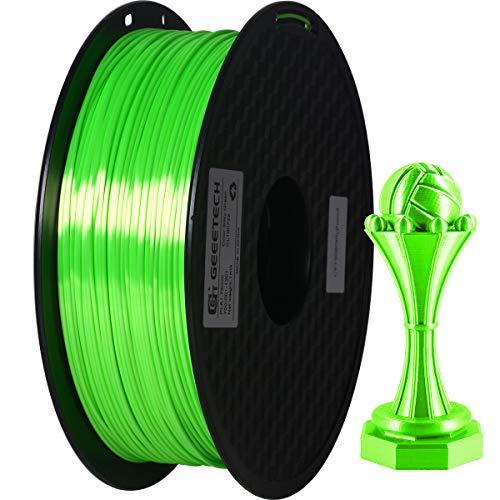 GEEETECH PLA filamento 1.75mm Verde Seda, filamento PLA 3d para impresora 3d 1kg carrete