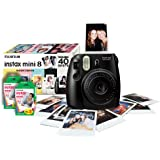 Instax Mini 8 Black Instant Camera inc 40 Shots
