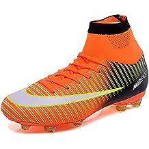 KAMIXIN Botas de Fútbol Hombre Aire Libre Deporte Cesped Artificial  Zapatillas de Futbol Training Adolescentes Niños b427937946213