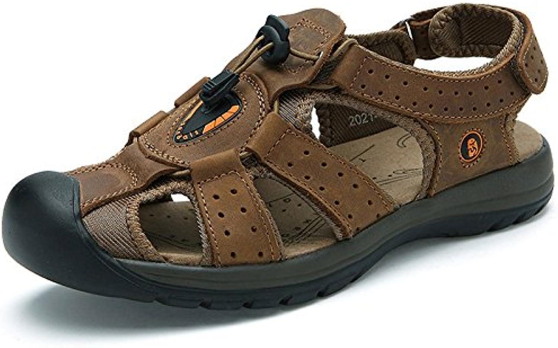 LEDLFIE Baotou Sandalen Mode Strand Schuhe Outdoor Sports Freizeitschuhe Brown 39