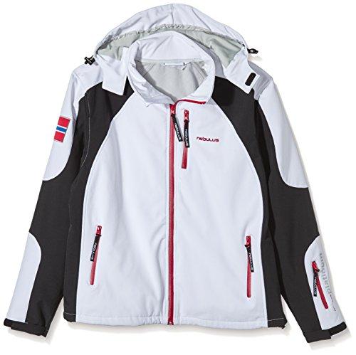 Nebulus Rockshell Veste de Ski Homme, Blanc/Noir, FR (Taille Fabricant : XXXL)