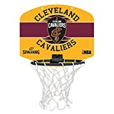 SPALDING - NBA MINIBOARD CLEVELAND CAVS (77-650Z) - Mini Panier Basket - Logo Officiel NBA - Mini Ballon Inclus - multicolore