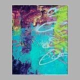 HY&GG Lila Farbe Luxus Style Handgefertigte Acrylbild Auf Baumwolle Canvas