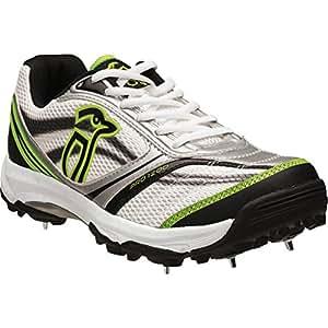 Kookaburra Pro 1200 Spike Cricket Shoe, Lime- UK 6
