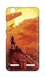 Amez designer printed 3d premium high quality back case cover for Lenovo K5 Plus (Starwars art illust orange red)