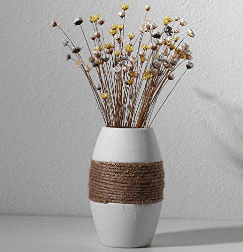 er der weißen europäischen Keramik schwingen in verzierende Ideen für Wasser zu verbringen - Pui getrocknete Blume Blume - Vase Handwerk, F ()