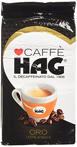 Hag Miscela Di Caffè Decaffeinato Macinato, 100% Arabica - 16 Pezzi