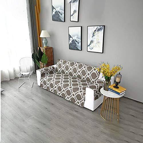 GAOJIN Stretch-Sofa-Überzug, Haustier-Couch-Überzug, doppelseitig, maschinenwaschbar, stilvoller Möbelschutz, schmutzabweisend, bequem und flach, geeignet für Sofakissen, Khaki, 167 * 196 -