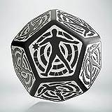 Q-Workshop QWOHIT05 Hit Location Die Black/White D12 (1), Multi-Coloured