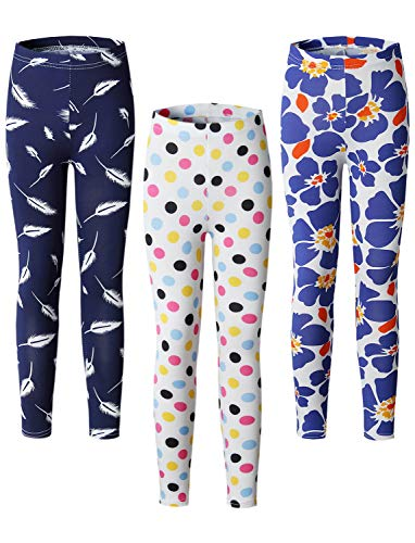 Adorel Leggings Estampado Pantalón Stretch Niña