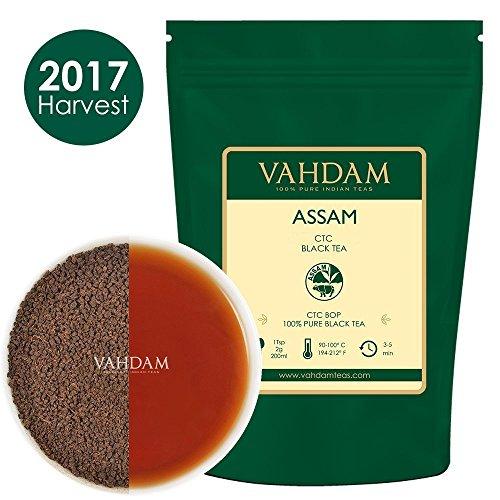 Té negro de Assam CTC de hojas sueltas, té INTENSO, FUERTE Y RICO, té de Assam, té con leche original de la India, té chai, 454 g, té negro CTC