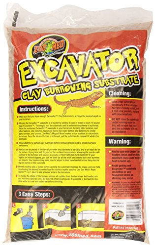 Zoo Med Excavator Clay Burrowing Substrat pour Reptile/Amphibien 4,5 kg