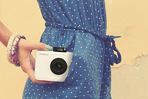 Polaroid Snap Touch - Cámara digital con impresión instantánea y pantalla LCD con tecnología Zero Zink, blanco