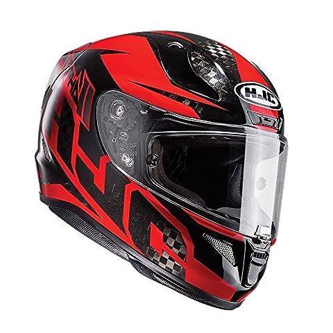 R1CRM - HJC RPHA 11 Lowin Carbon Motorcycle Helmet M Red (MC1)