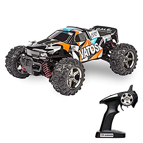 Vatos RC Car Off Road High Speed 4WD 40km/h 1:24 Scale 50M Remote Control 30mins Playing Time 2.4GHz Electric Vehicle with Rechargeable Battery (Camouflage Yellow)