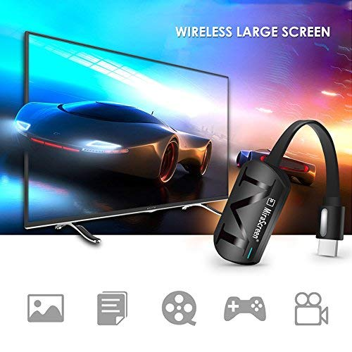 WiFi Pantalla Dongle , Wireless HDMI Pantalla Espejo TV Receptor Adaptador Stick Soporte Netflix Youtube Miracast Airplay DLNA para Android/Mac/iOS/Windows