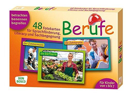 Berufe. 48 Fotokarten für Sprachförderung, Literacy und Sachbegegnung - 48 Fotokarten mit Begleitheft. Betrachten. Benennen. Begreifen. Für Kinder von ... (Fotokarten für Sprachförderung und Literacy)