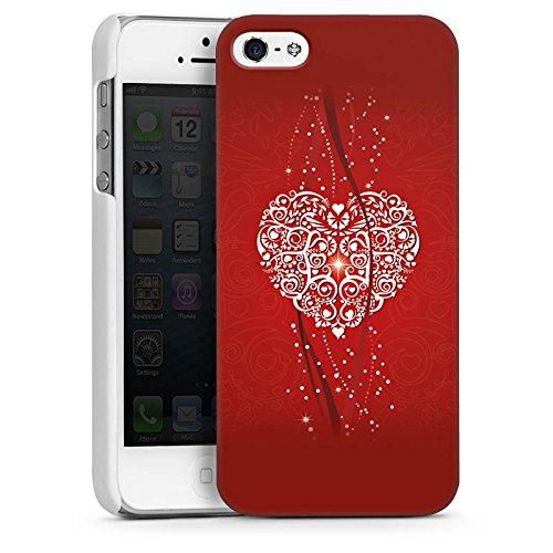 Apple iPhone 4 Housse Étui Silicone Coque Protection Amour Amour C½ur CasDur blanc