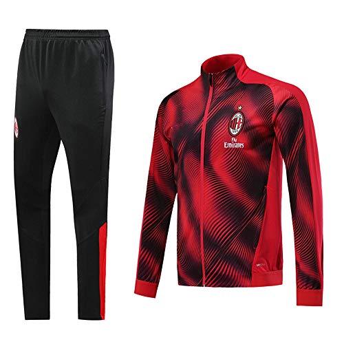 XunZhiYuan Giacca e Pantaloni da Calcio da Uomo Tute da Allenamento Tute da Calcio @ Photo Color_L