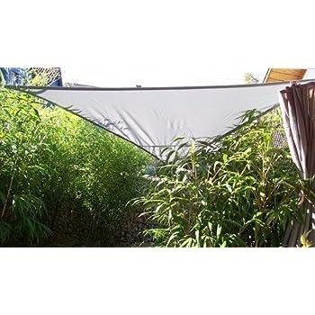 Yaccu ® voile d\'ombrage 6 x 6 x 6 m triangle pOLAR-gris: Amazon.fr ...