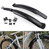 Artudatech Fahrrad-Schutzblech, 26 Zoll Raer und vorderer Kotflügel, Mountainbike, Schutzblech-Set, Fahrrad, Schutzbleche, Schutzbleche