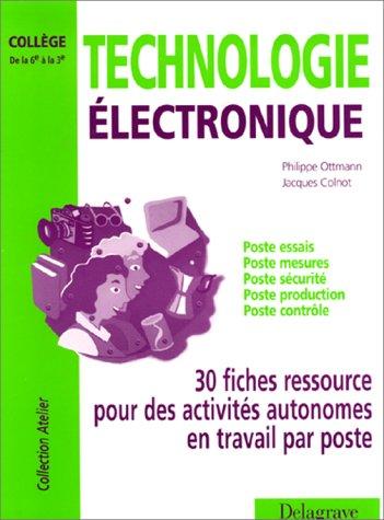 Technologie électronique, collège de la 6e à la 3e