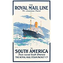 "Impresión artística / Póster: Edward Wilbur Dean Hamilton ""Rhe Royal Mail Line to South America"" - Impresión de alta calidad, foto, póster artístico, 45x70 cm"