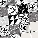 creatisto Fliesenfolie Fliesenaufkleber Mosaikfliesen - Klebefolie Aufkleber für Wand-Fliesen | Stickerfliesen - Mosaikfliesen für Küche, Bad, WC Bordüre (10x10 cm | 9 -Teilig)