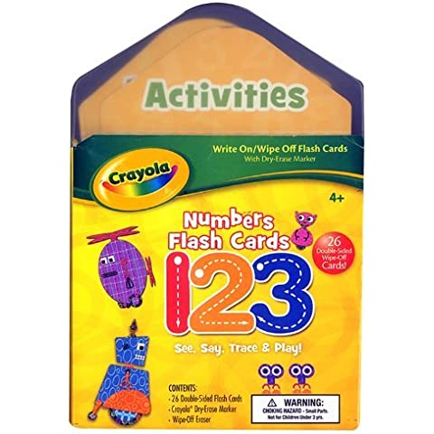 Crayola Numbers Flash Cards [With Wipe-Off Eraser