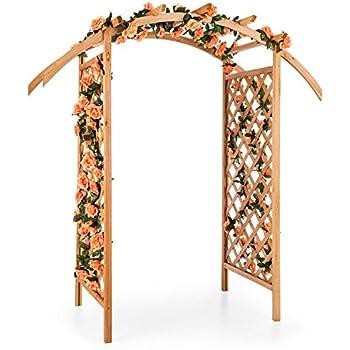 Pergola double en arc en bois Violette: Amazon.fr: Jardin