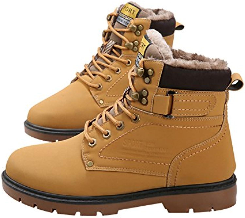 Herren Martin Stiefel Freizeitschuhe Herbst Winter Komfort Winter Schuhe Kurzschaft Stiefel  Stiefeletten Gelb 39
