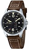AVI-8 Hawker Harrier II - AV-4003-0D - Orologio da polso Unisex, Pelle, colore: Marrone
